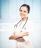 Jeune docteur positif Photographie stock libre de droits