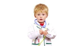 Jeune enfant en bas âge de docteur Photographie stock libre de droits