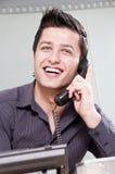 Jeune entrepreneur au téléphone Images stock