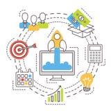 Jeune entreprise Idée de investissement et de financement illustration stock