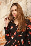 Jeune et à la mode brunette images libres de droits