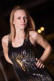 Jeune et belle femme d'affaires caucasienne blonde Images stock