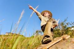 Jeune explorateur photo libre de droits