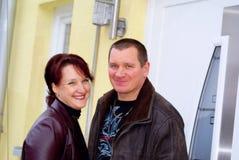 Jeune façade de couples. Photos stock