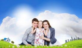 Jeune famille Image libre de droits