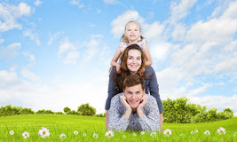 Jeune famille Photo stock