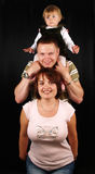 Jeune famille addorable Photographie stock