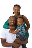 Jeune famille afro-américaine Photographie stock libre de droits