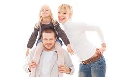 Jeune famille ensemble Photos stock