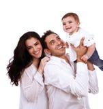 Jeune famille espiègle Photo libre de droits