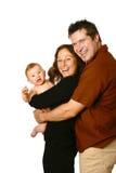 Jeune famille heureuse Photos libres de droits