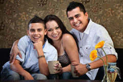 Jeune famille heureuse de Natif américain Photo stock
