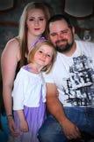 Jeune famille moderne Photo stock