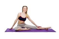 Jeune femelle faisant des exercices Images stock