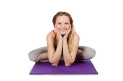 Jeune femelle faisant des exercices Image stock