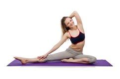 Jeune femelle faisant des exercices Photo stock