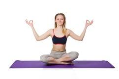 Jeune femelle faisant des exercices Photos stock