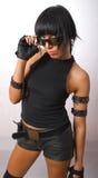Jeune femelle militaire de brunette Photographie stock