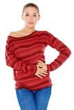 Jeune femme à la mode sûre Images stock