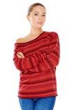 Jeune femme à la mode sûre Image stock