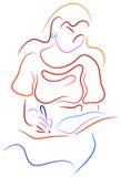 Jeune femme écrivant un cahier Photographie stock libre de droits