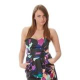 Jeune femme élégant dans la robe photos libres de droits