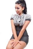 Jeune femme élégant de brunette Photos libres de droits