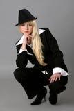 Jeune femme élégante d'affaires Image stock