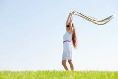 Jeune femme américain avec le voile de vol Photo libre de droits