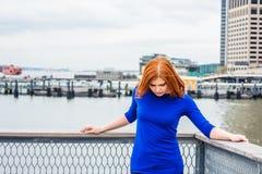 Jeune femme américaine voyageant à New York Photo libre de droits
