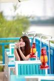 Jeune femme asiatique célibataire Photos stock