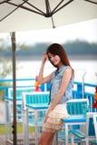 Jeune femme asiatique célibataire Photographie stock libre de droits