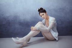 Jeune femme asiatique sexy futuriste Image stock