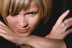 Jeune femme attentivement Images libres de droits