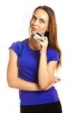 Jeune femme attirante avec la carte de crédit Photographie stock libre de droits