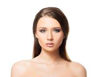 Jeune femme attirante avec la peau lisse photographie stock