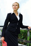 Jeune femme attirante d'affaires Image stock
