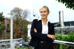Jeune femme attirante d'affaires Photos stock