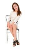 Jeune femme attirante posant dans le studio Image stock