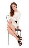 Jeune femme attirante posant dans le studio Photo libre de droits