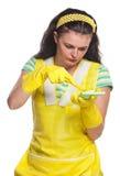Jeune femme au foyer Image stock