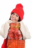 Jeune femme avec des cadeaux Image stock