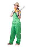 Jeune femme avec des cisaillements Photographie stock libre de droits