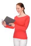 Jeune femme avec des livres photo stock