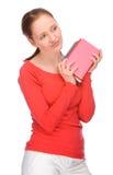Jeune femme avec des livres image stock