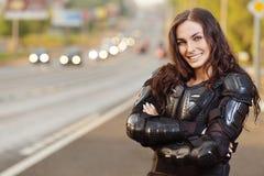 Jeune femme avec du charme de verticale Photo libre de droits