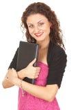Jeune femme avec l'ordinateur portatif Photos libres de droits