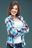 Jeune femme avec le beau sourire Portrait Photos libres de droits