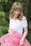 Jeune femme avec le cheveu blond Images libres de droits