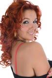 Jeune femme avec le cheveu rouge photos libres de droits